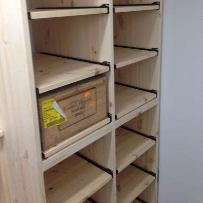 wooden wine bottle case rack 2 drawer