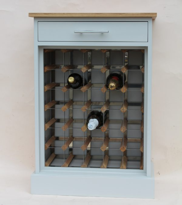30 Bottle painted cabinet