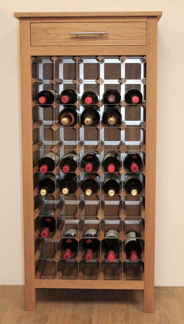 50 Bottle Wine Cabinet Metal Rack Legs 02 (S)