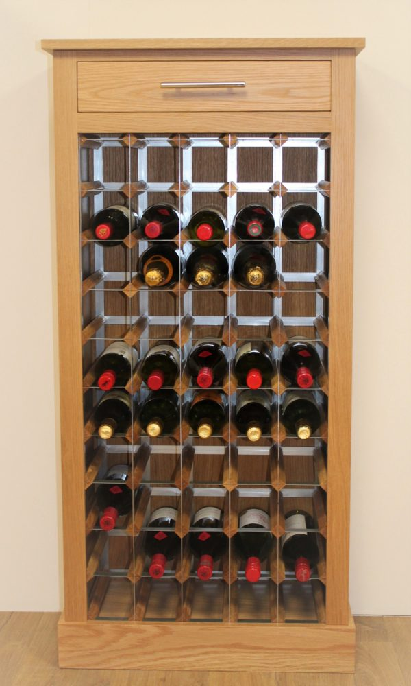 50 Bottle Wine Cabinet Metal Rack Plinth 02 (S)