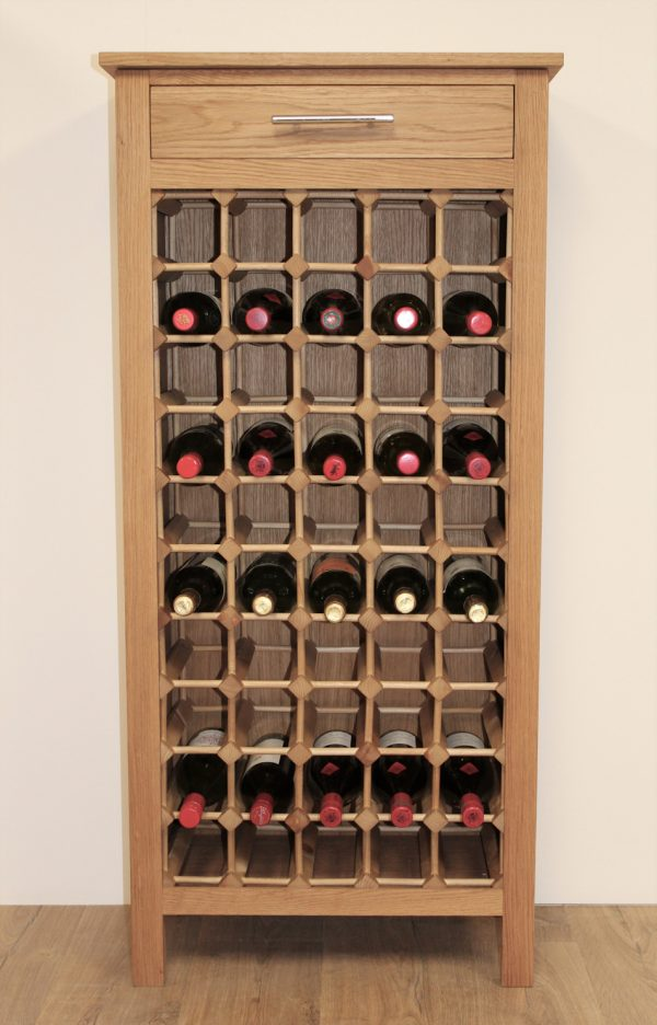 50 Bottle Wine Cabinet Wooden Rack Legs 02 S