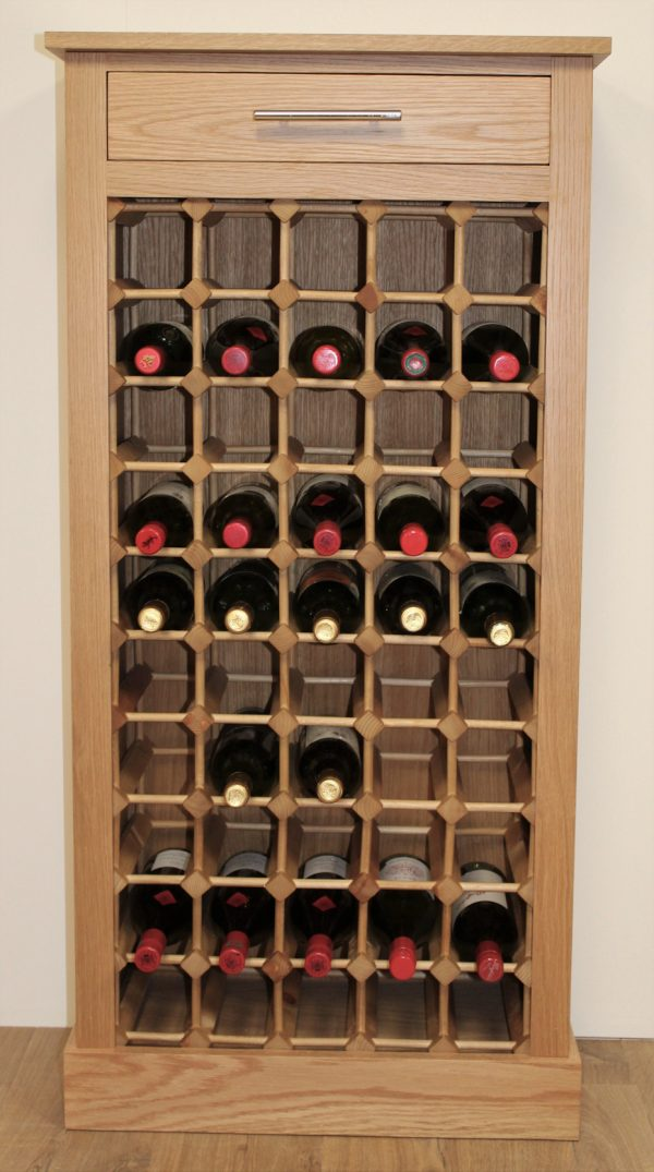 50 Bottle Wine Cabinet Wooden Rack Plinth 02 (S)