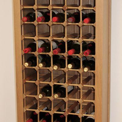 50 Bottle Wine Cabinet Wooden Rack Plinth (S)