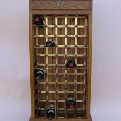 Decorative Wine Cabinet with Drawer 50 Bottles