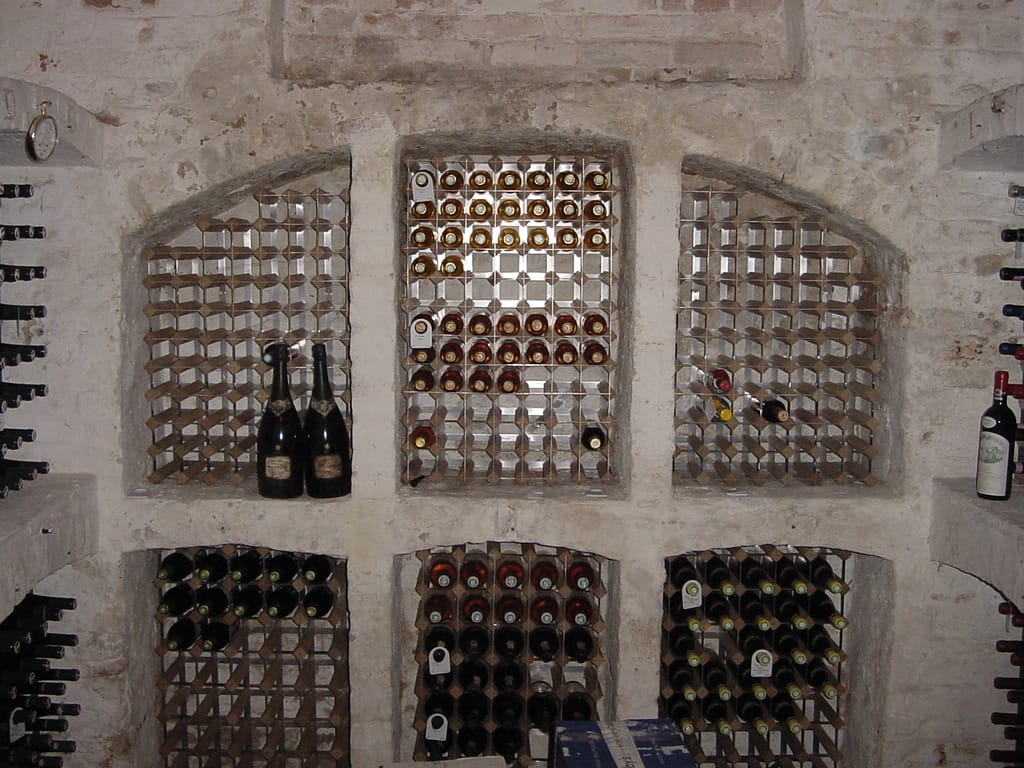 Arched Cellar Wine Racking
