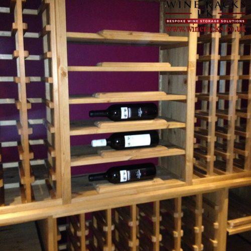 Solid Pine Wine Rack