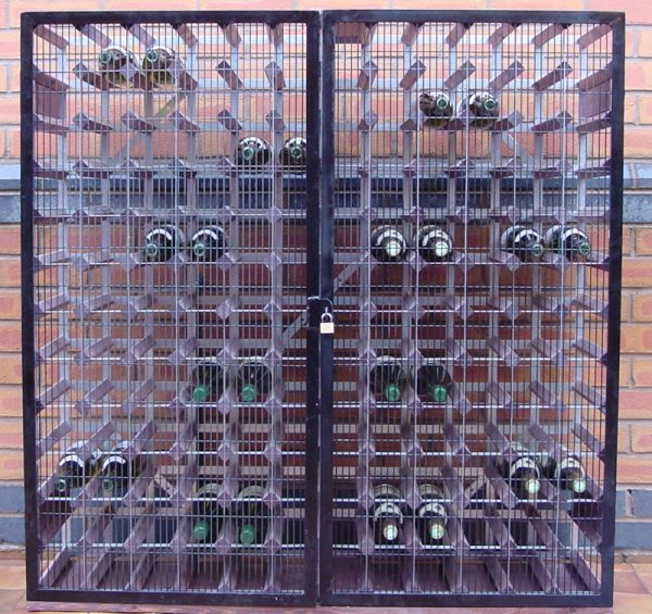 Lockable Wine Bottle Storage