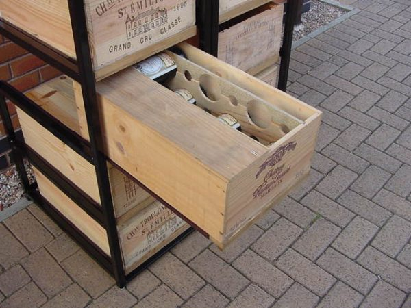 Metal Wine Case Rack