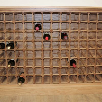 Oak Cabinet 112 bottle wood rack (S)