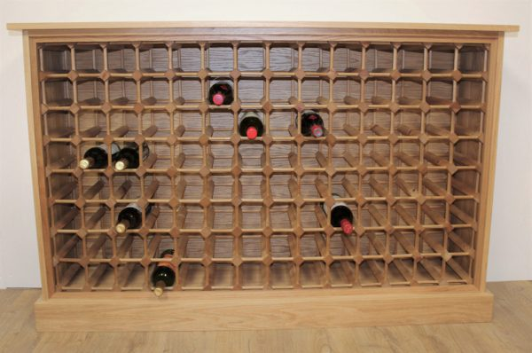 Oak Cabinet 112 bottle wood rack (S)