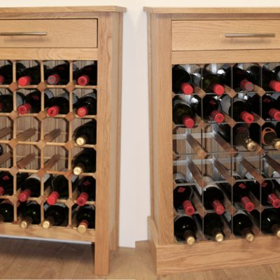 Oak Wine Cabinet 30 bottle Cover