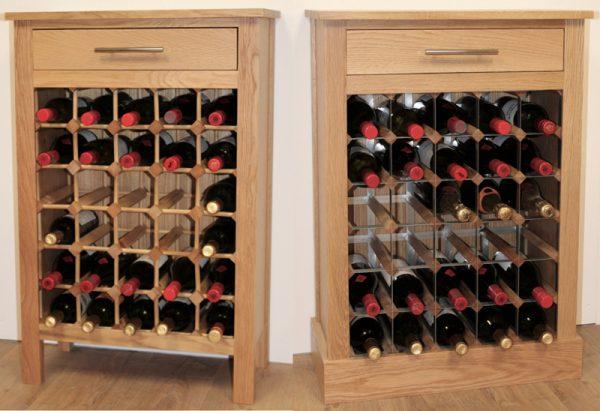 Oak Wine Cabinet 30 bottle Cover