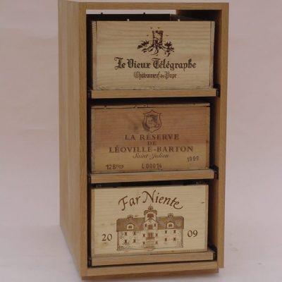Showcase Wine Case Storage 3 Drawer