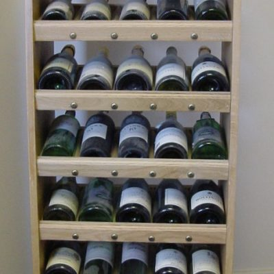 Solid Oak Wine Display