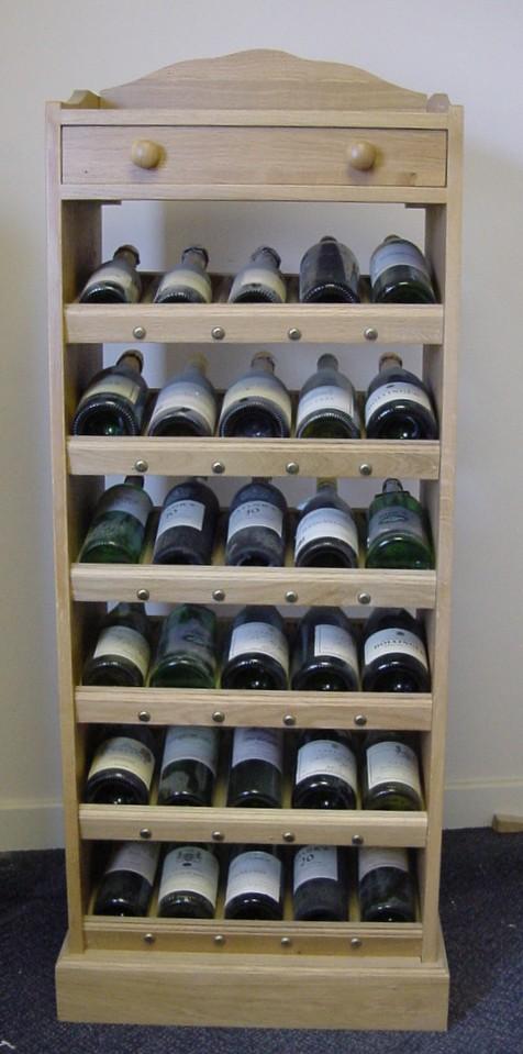 Solid Oak Wine Display