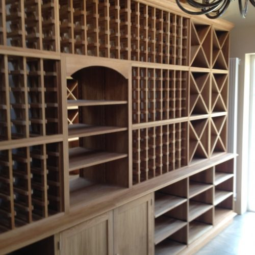 Solid Oak Wine Racking Wine Display Wall
