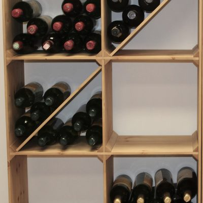Solid Pine Smart Wine Bins