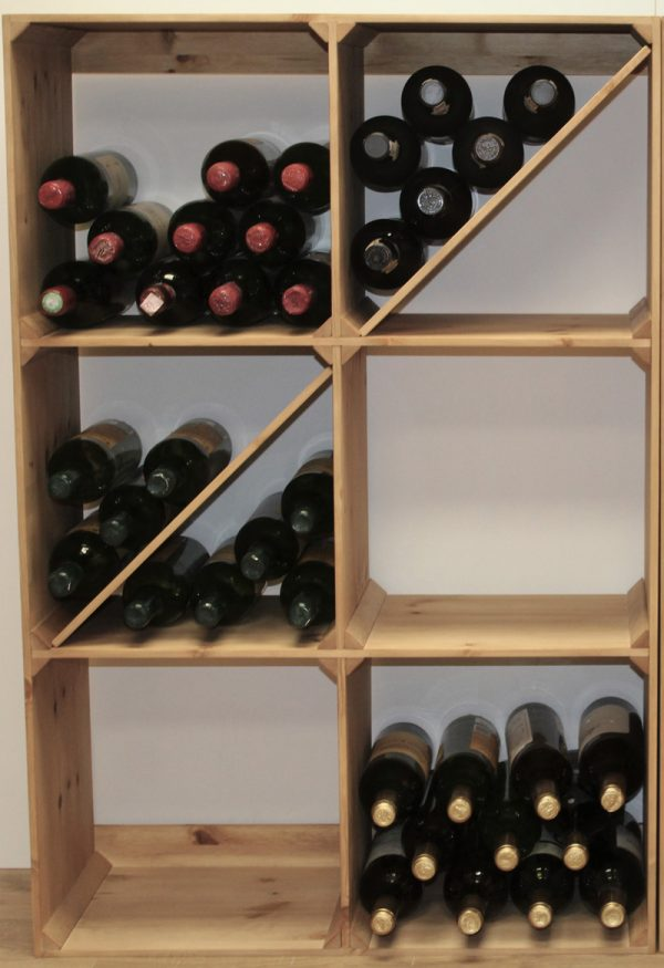 Solid Pine Smart Wine Bins
