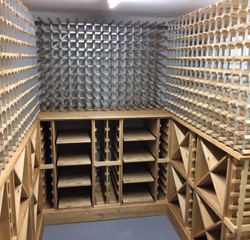 Solid pine & Traditional wine racks