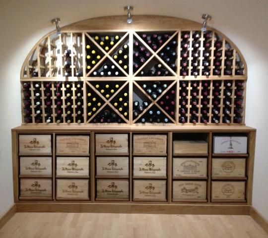 Vaulted Oak Wine Rack Cellar