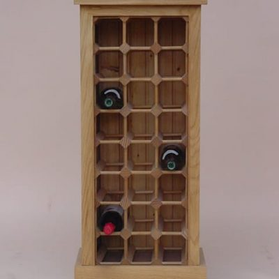 24 bottle oak wine cabinet