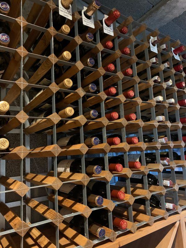 Wood and Metal wine rack