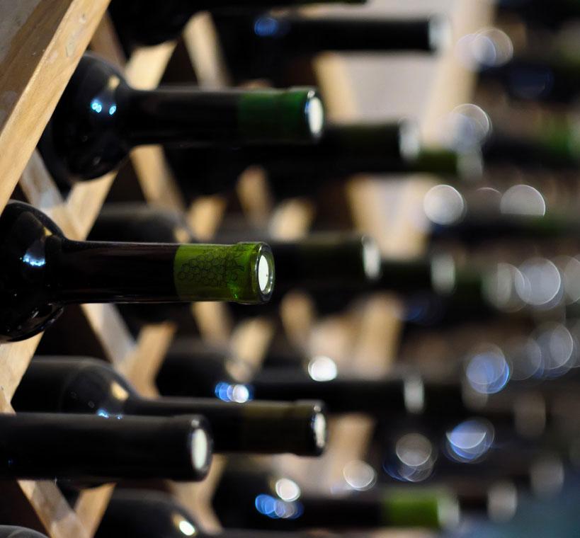 solid oak wine racking