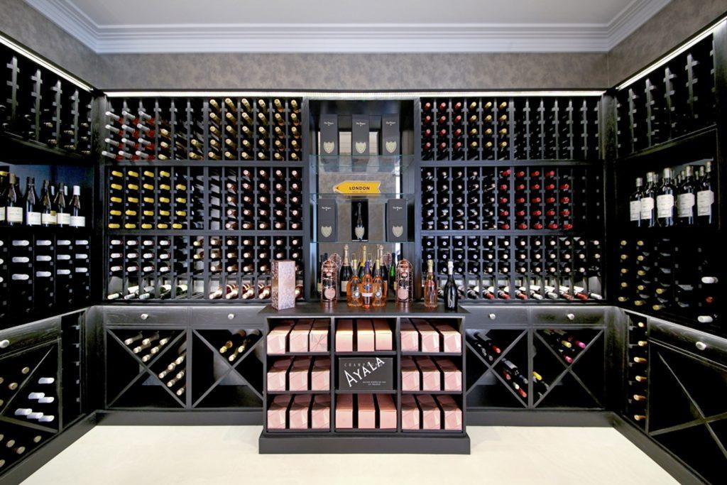 Wine racks solid oak with black-stain-
