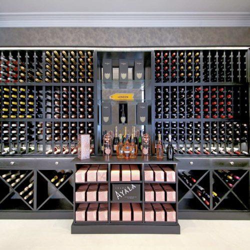 Wine-racks-solid Oak with black-stain