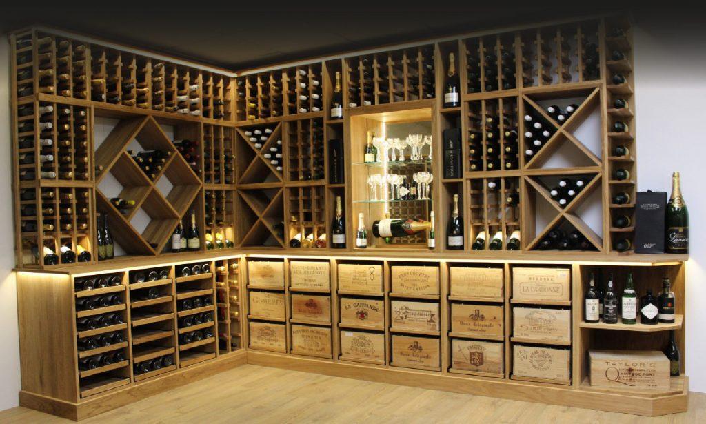 Beautiful wine rack solution wood