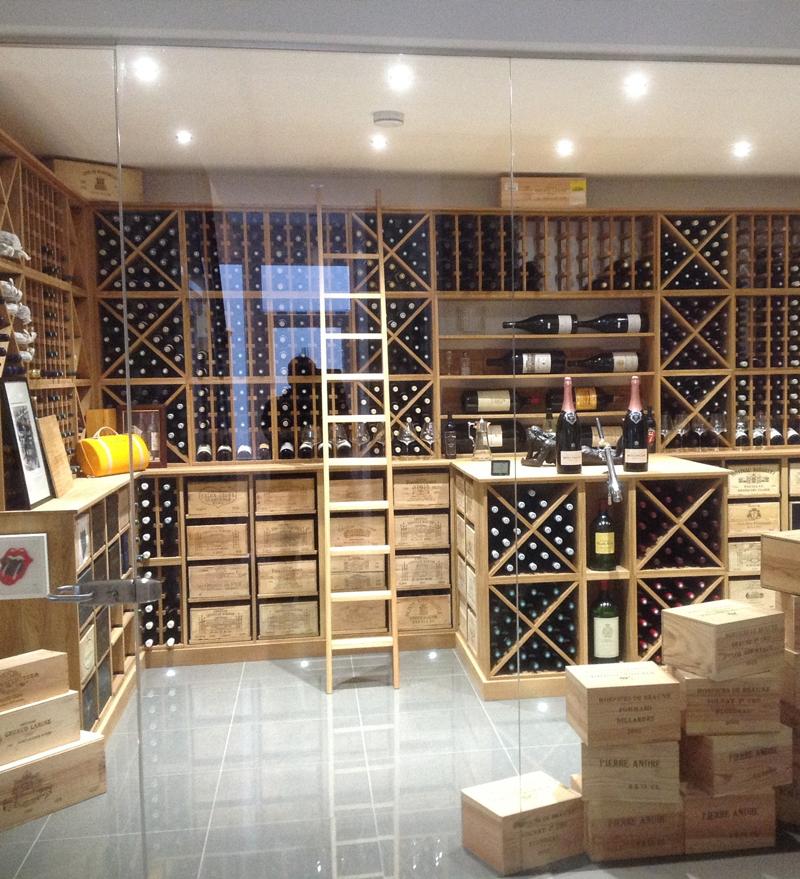 solid oak wine racks display