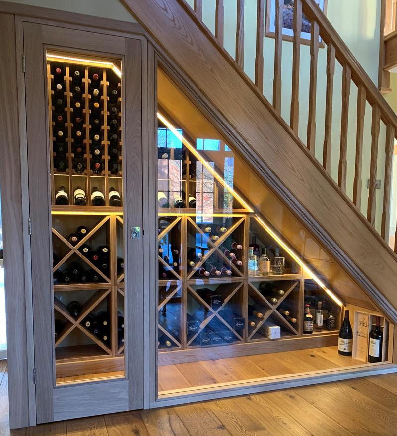 solid oak wine racks led