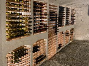 Sold oak wine cellar